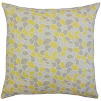Lily Geometric Floor Pillow Canary