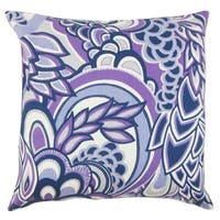Michal Floral Floor Pillow Plum