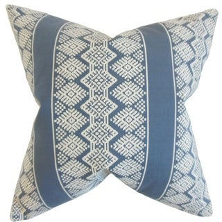 Zadock Geometric Floor Pillow Blue