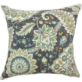 Amadea Floral Floor Pillow Marine