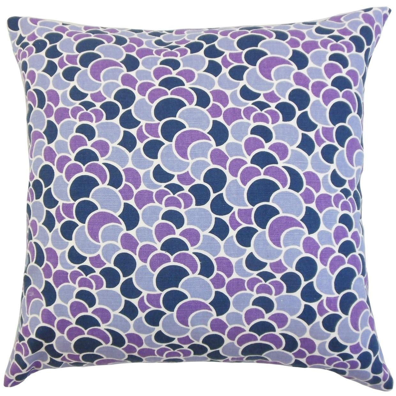 Lily Geometric Floor Pillow Plum