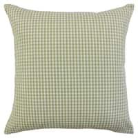 Keats Plaid Floor Pillow Sage