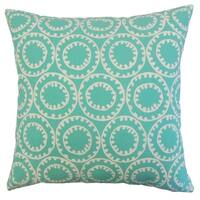 Abdiel Outdoor Floor Pillow Turquoise