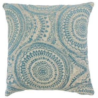 Freira Geometric Floor Pillow Teal