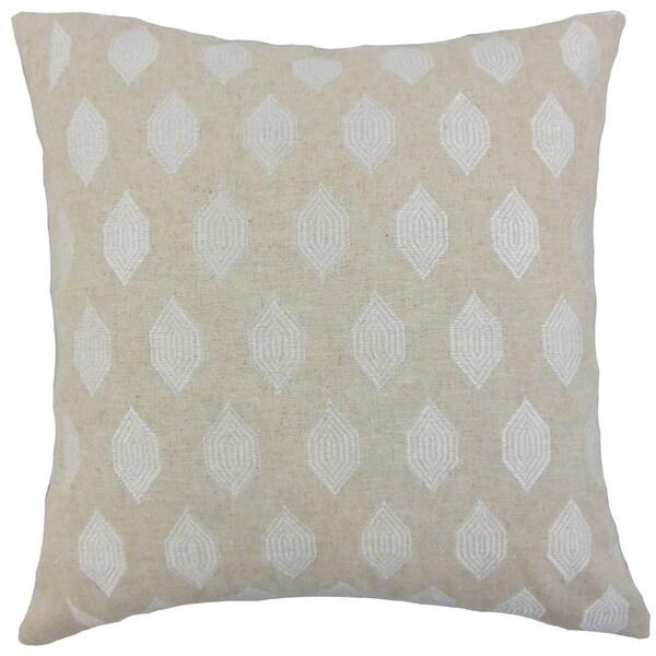 Gal Geometric Floor Pillow Linen