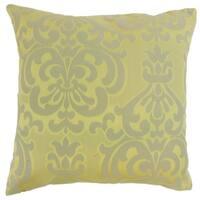 Sarane Damask Floor Pillow Lichen