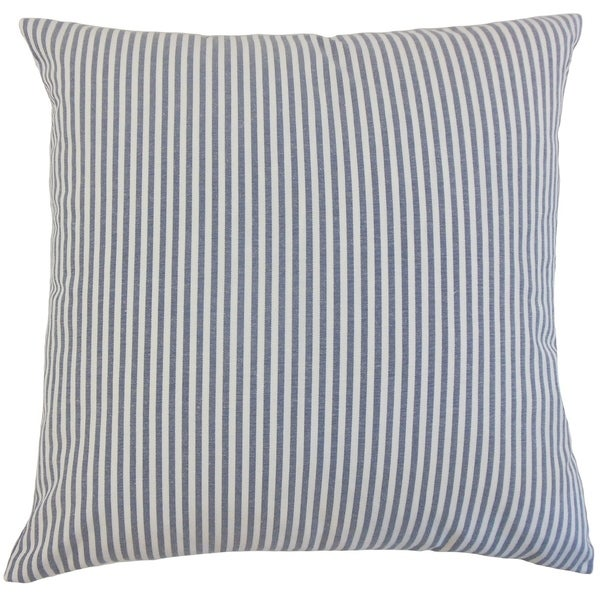 Ira Stripes Floor Pillow Navy