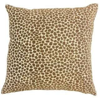 Meltem Animal Print Floor Pillow Teak