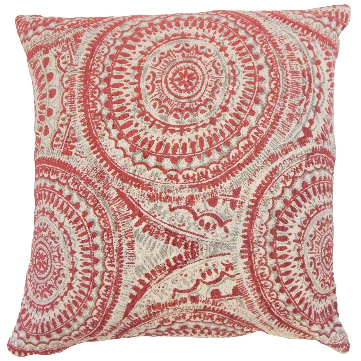 Chione Graphic Floor Pillow Cherry