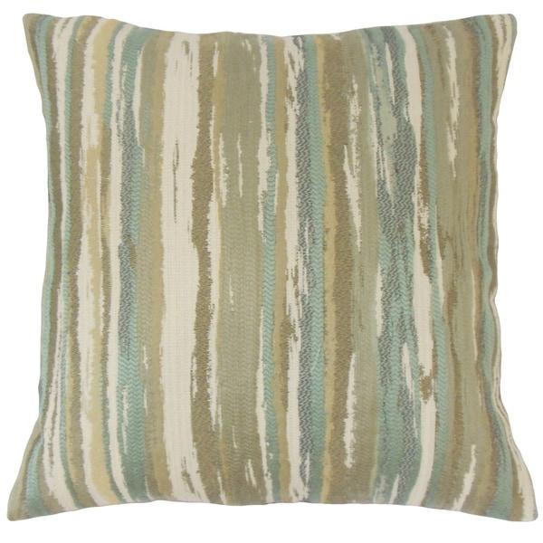 Uchenna Stripes Floor Pillow Sage