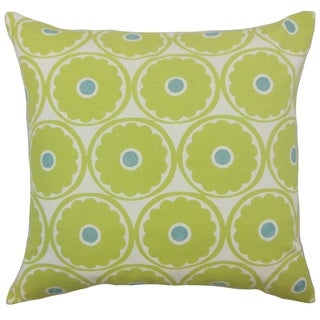 Day Floral Floor Pillow Lime