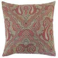 Karleshia Damask Floor Pillow Currant