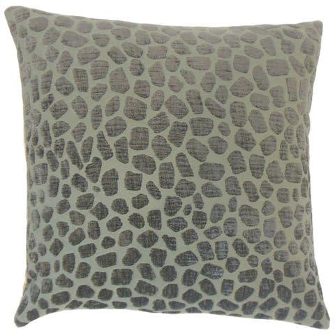 Lameez Geometric Floor Pillow Pewter