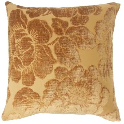 Cenobia Floral Floor Pillow Ginger