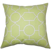 Samoset Geometric Floor Pillow Peridot