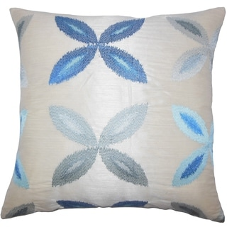 Syshe Ikat Floor Pillow Blue