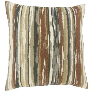 Uchenna Stripes Floor Pillow Earth