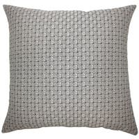 Nahuel Geometric Floor Pillow Black White