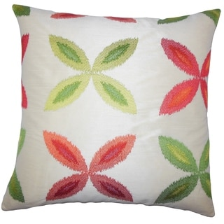Syshe Ikat Floor Pillow Red Green