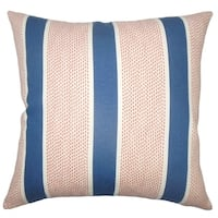 Velten Striped Floor Pillow Sapphire