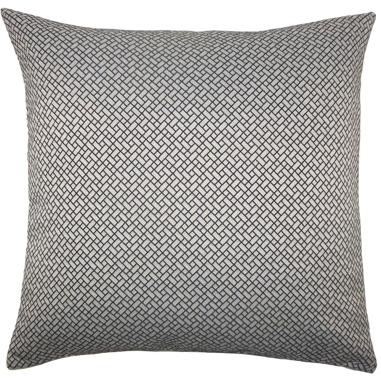 Pertessa Geometric Floor Pillow Black White