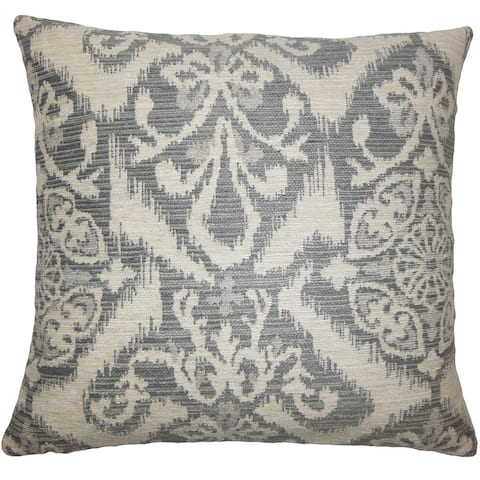Ingalill Ikat Floor Pillow Fog