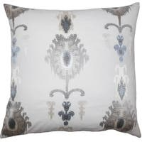 Calico Ikat Floor Pillow Platinum