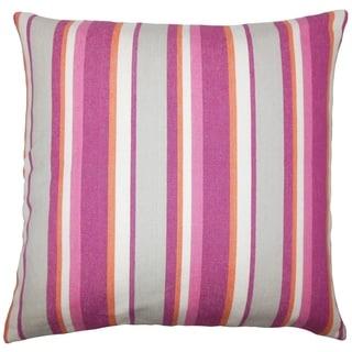 Reiki Striped Floor Pillow Berry