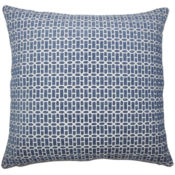 Qiao Geometric Floor Pillow Lapis