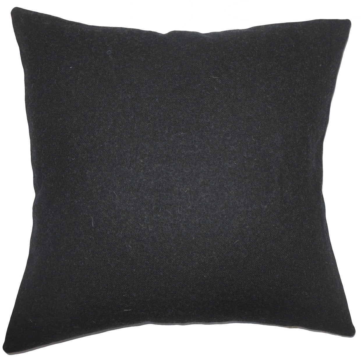 Eire Solid Floor Pillow Black