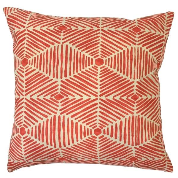 Iakovos Geometric Floor Pillow Salmon