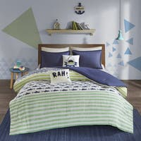 Urban Habitat Kids Aaron Green/ Navy Cotton Printed 5-piece Comforter Set