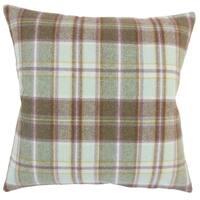Heaton Plaid Floor Pillow Brown