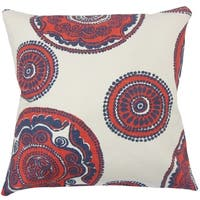 Ziraili Floral Floor Pillow Lapis