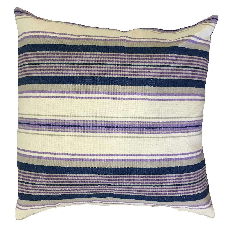 Warrick Striped Floor Pillow Purple