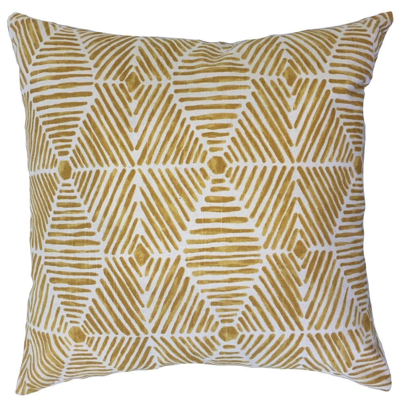 Iakovos Geometric Floor Pillow Golden Rod