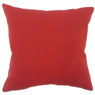 Carabella Solid Floor Pillow Red