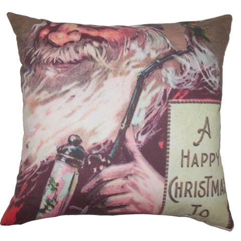 Noelle Holiday Floor Pillow Red