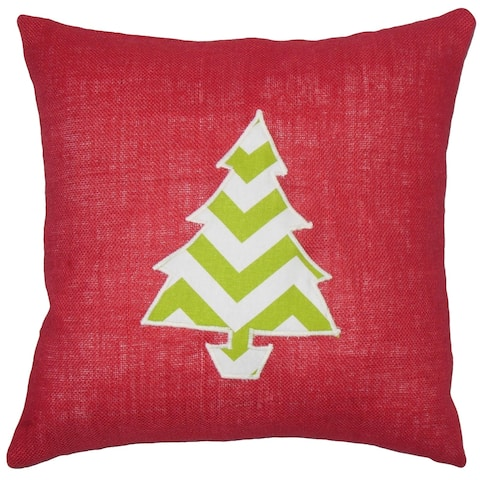 Virgia Holiday Floor Pillow Red