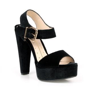 Fahrenheit Lindsay-01 Chunky Heel Women's Platform High Heel Sandals