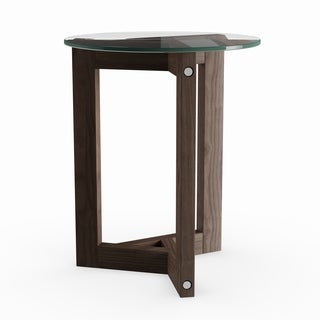 Beck Modern Dark Chocolate Reclaimed Wood Round End Table