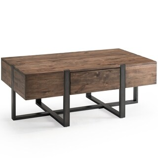 Prescott Modern Reclaimed Wood in Rustic Honey Condo Coffee Table
