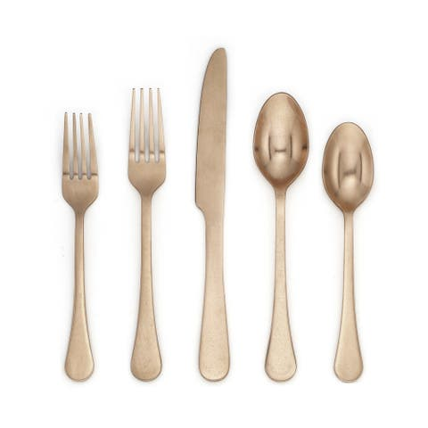 Cambridge Silversmith Katni Copper-tone Stainless Steel 20-piece Flatware Set