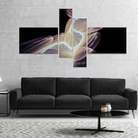 Designart 'Elegant Fantasy Fractal Design' Abstract Canvas Wall Art Print