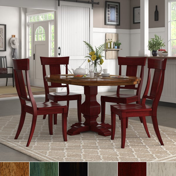 Red Dining Table Set: Shop Eleanor Berry Red Extending Oval Wood Table Panel