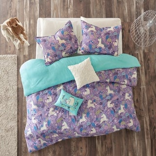 Urban Habitat Kids Ella Purple Cotton Printed 5-piece Duvet Cover Set (2 options available)