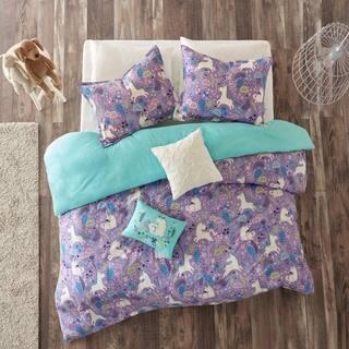 Urban Habitat Kids Ella Purple Cotton Printed 5 Piece Duvet Cover Set 2 Options