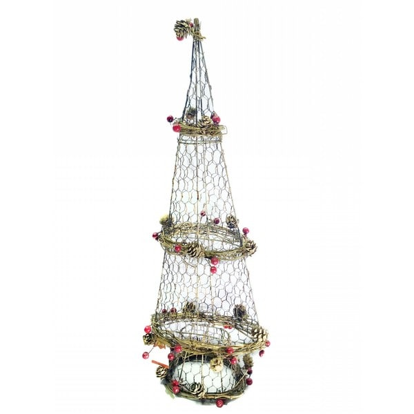 rattan light up christmas tree decor