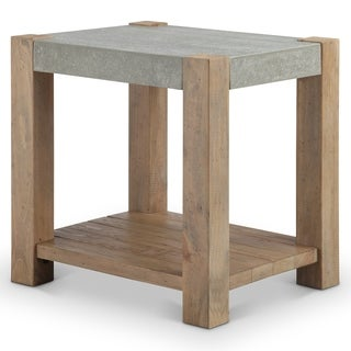 Donovan Rustic Honey Wheat Reclaimed Rectangular End Table