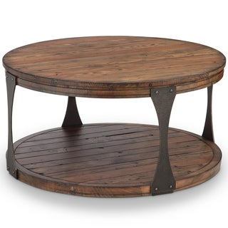 Montgomery Industrial Reclaimed Wood Coffee Table with Casters